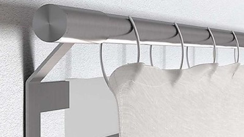joool die vorhangstange ohne schrauben bohren und werkzeug. Black Bedroom Furniture Sets. Home Design Ideas